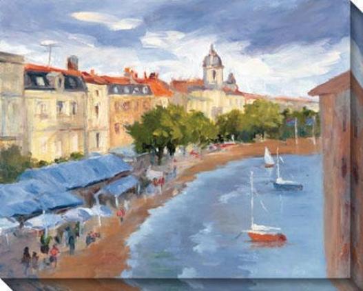 La Roschelle Harbour Ii Canvas Wall Art - Ii, Blue