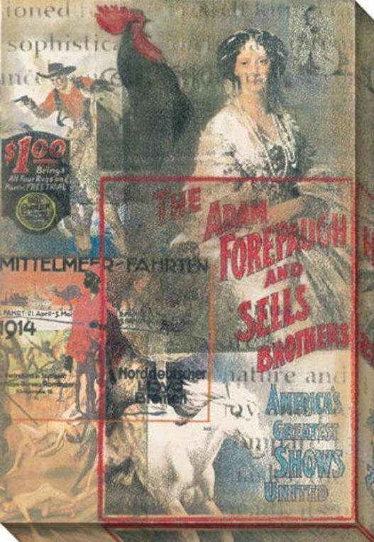 """ladies And Gentlemen Canvas Wall Art - 34""""hx48""""w, Gray/multi"""
