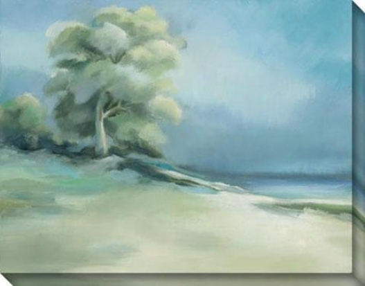Lakeside Tree I Canvas Wall Art - I, Azure