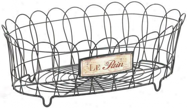 """le Pain Wire Basket - 6""""hx17""""w, Steel Gray"""