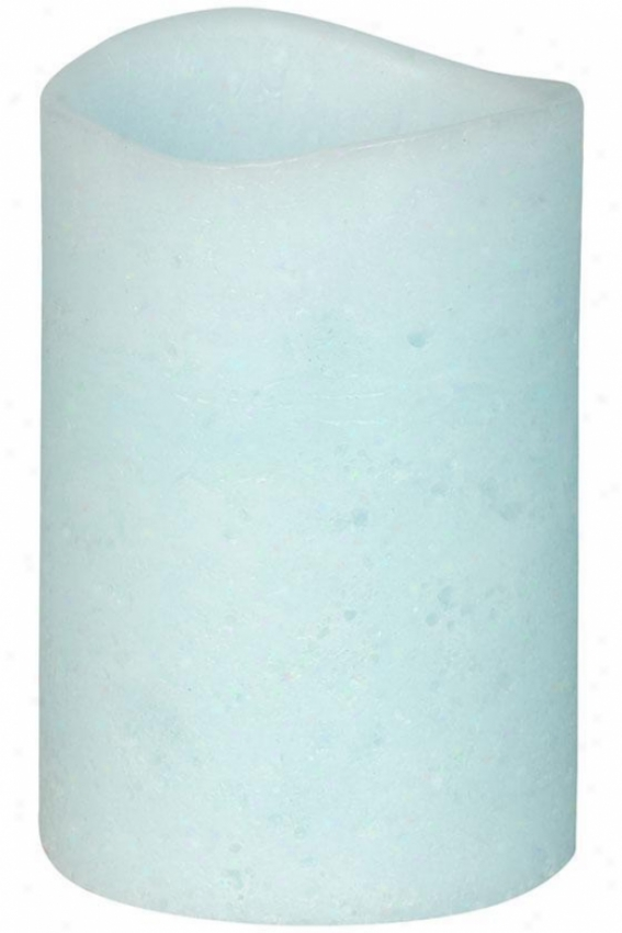 """led Candle With Timer - 4""""x6"""", Blue"""