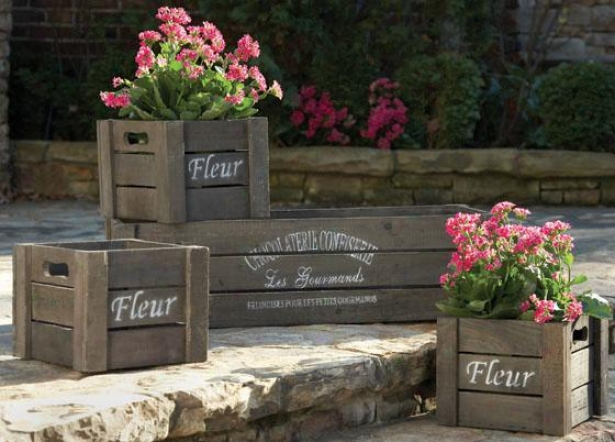 Left Bank Crate Assortment - Set Of 4 - Set Of Four, Wood/natural