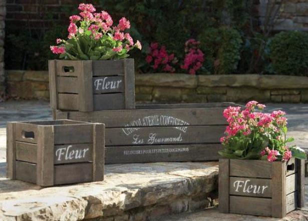 Left Bank Crate Assortment - Set Of 4 - Set Of Four, Wood/natural