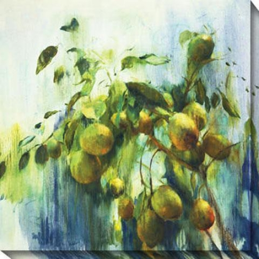 """lemons Canvas Wall Art - 40""""hx40""""w, Green"""