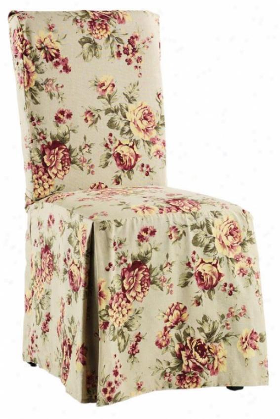 Lexington Long Chair Slipcover - Long W/ties, Multi Floral