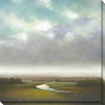 Light Precipitation Canvas Wall Art I - I, Gray