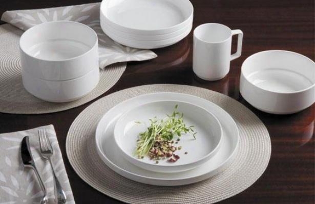 Linea 16-piece Dinnerware Set - 16 Painting Set, White