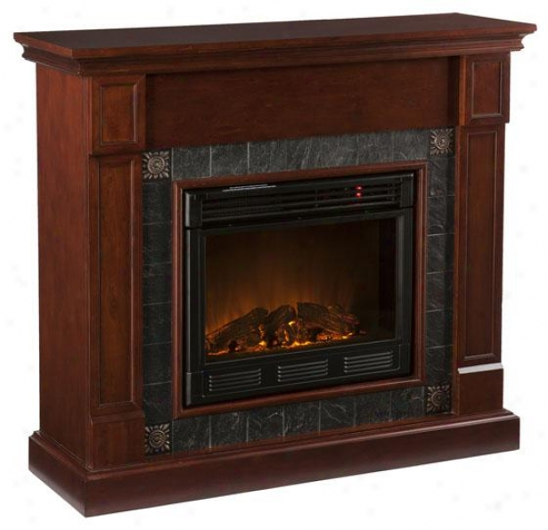Lucas Fireplace - Electric Frplce, Brick Red