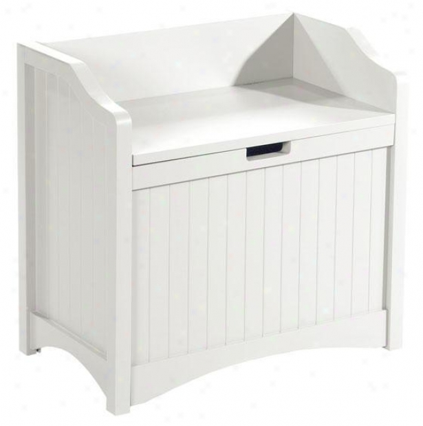 """madison 24""""w Lift-top Stotage Bench - 24""""w, White"""