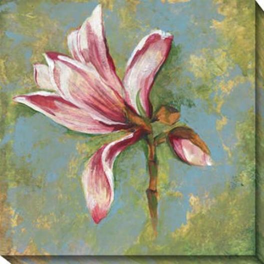 Magnolia I Canvas Wall Art - I, Green