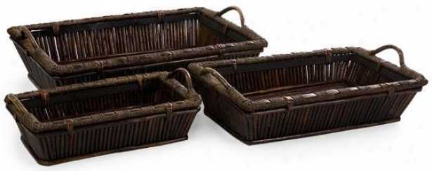 Mccaslin Oversized Trays - Set Of 3 - Set Of 3, Brown