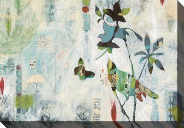 Meander I Canvas Wall Art - I, White