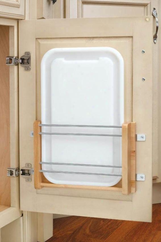 """""""medim Door Mount Polymer Cutting Board - 16.25x12.25x2""""""""d, Wood/whlte"""""""