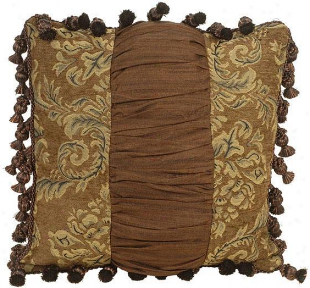 """melanie Pillow - 18"""" Adjust, Brown"""