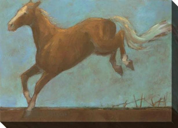 Midnite Run Ii Canvas Wall Art - Ii, Blue