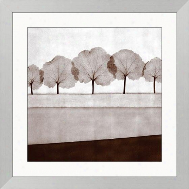 Mirage Vii Framed Wall Art - Vii, Cube Silvr Frme
