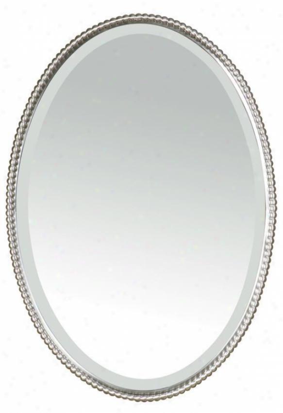 """mirai Mirror - 32""""hx32""""w, Silver Nickel"""