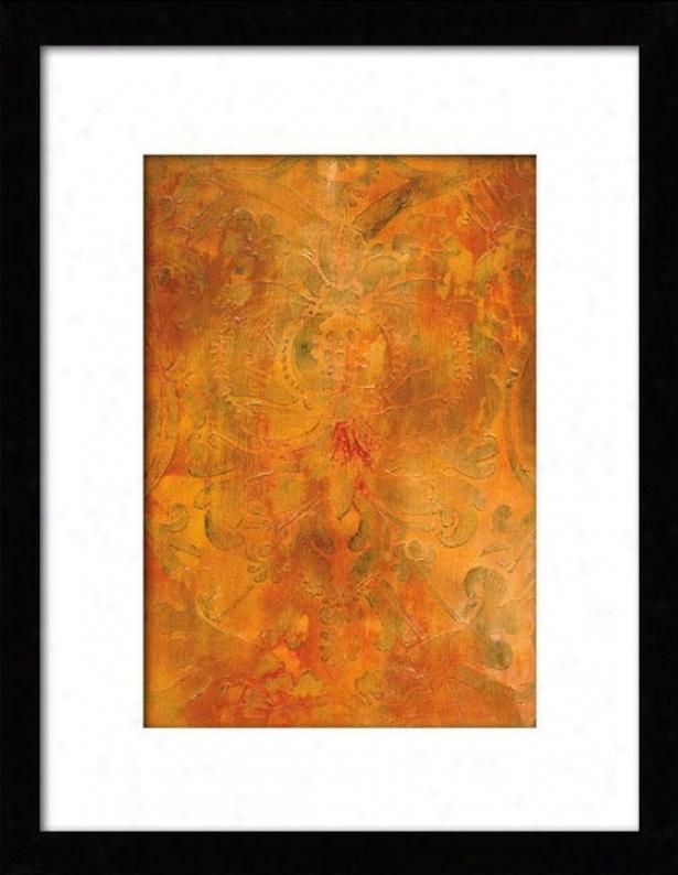 Modal I Framed Wall Art - I, Matted Negro