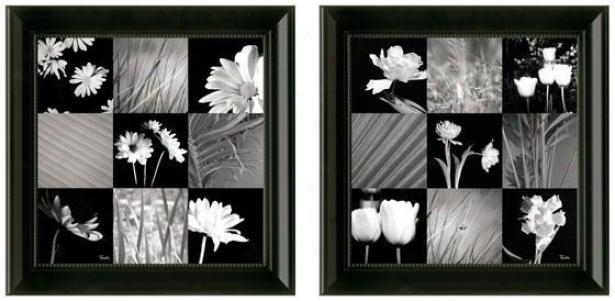 Modern Interpretation Framed Wall Art - Set Of 2 - Set Of Two, Black