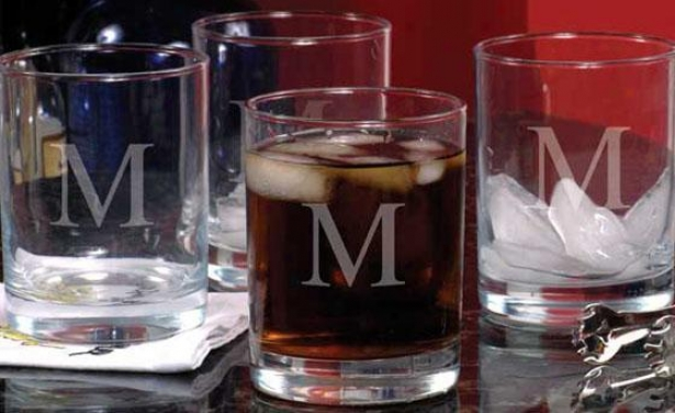 Monogram Double Old Fashioned Glssses - Set Of 4 - 14oz, O