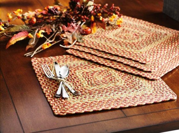 Montague Poacemats - Set Of 4 - 4 Pc Set, Brown