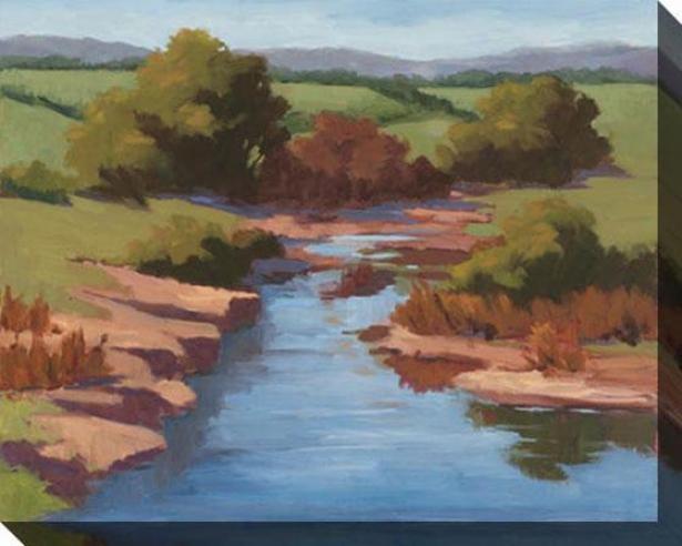 Morning Vistas I Canvas Wall Art - I, Green