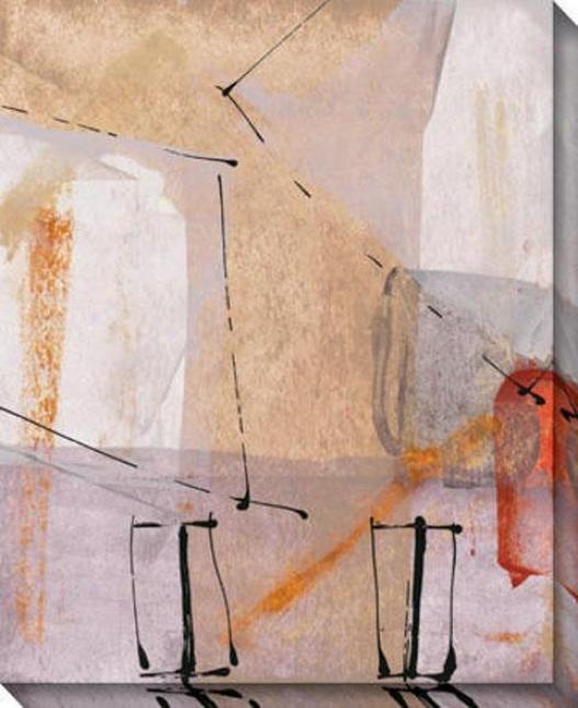 """""""mutiple Elements Canvas Wall Skill - 36""""""""hx44""""""""w, White"""""""