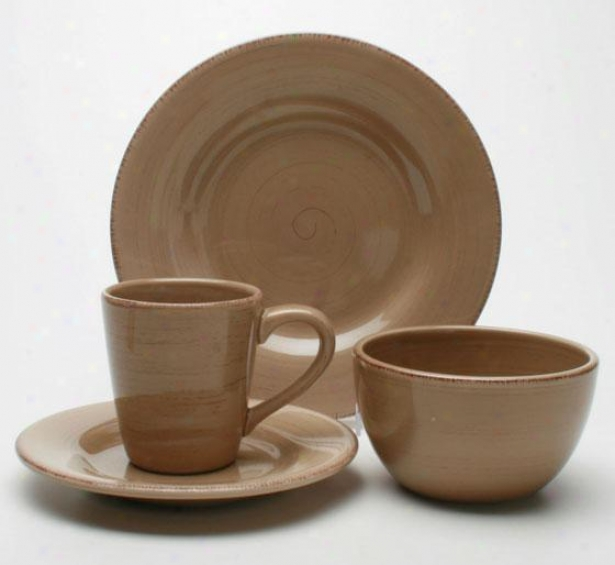 Napa 16-piece Dinnerware Set - 16 Piece Set, Tan