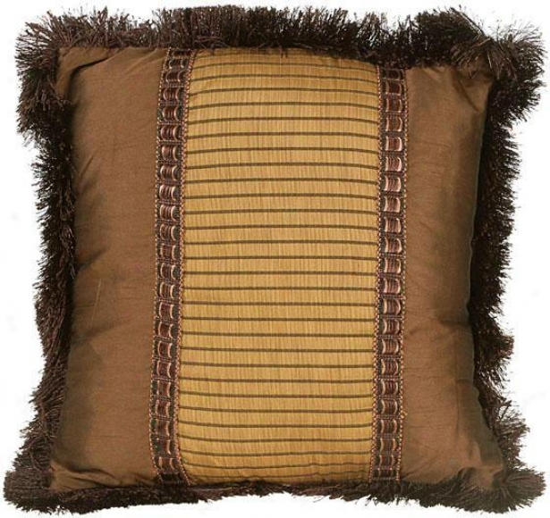 """natalie Pillow - 18"""" Square, Brown"""