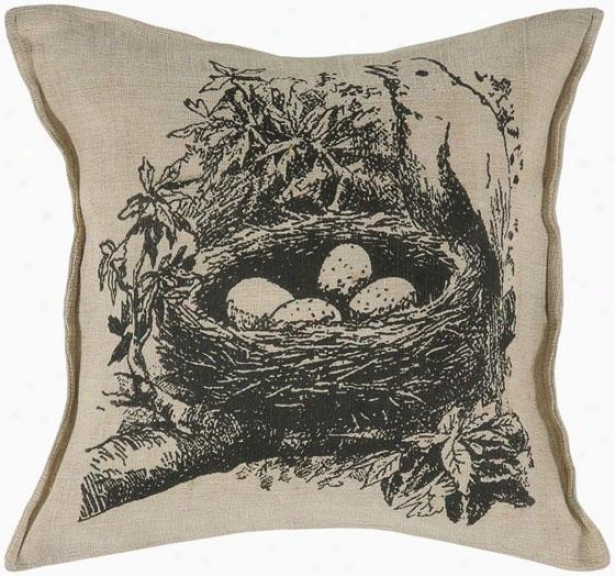 """nest Pillow - 18""""square, Black"""