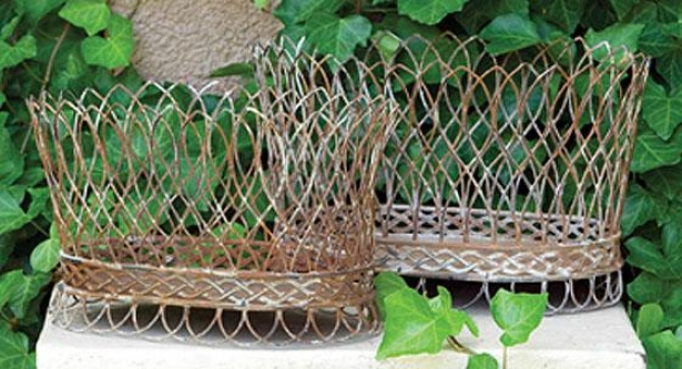 Nested Wire French Baskets - Set Of 2 - Set Of Pair, Having lived Rusr
