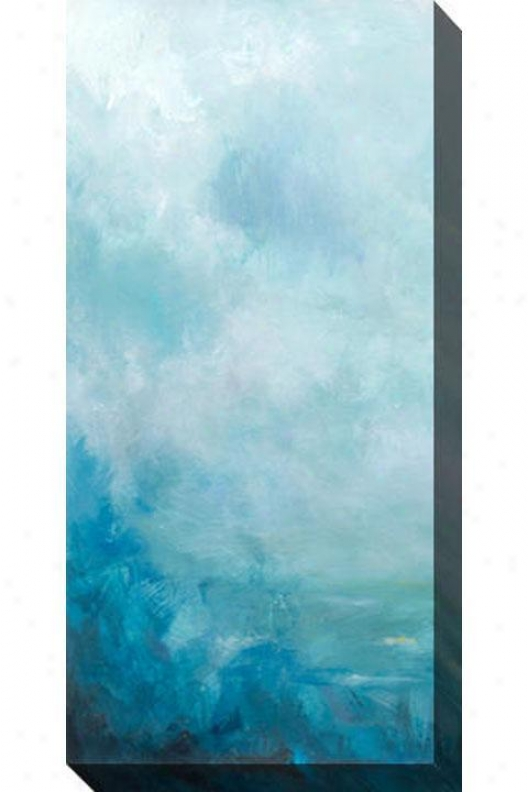 Sea Front I Canvas Wall Art - I, Blue