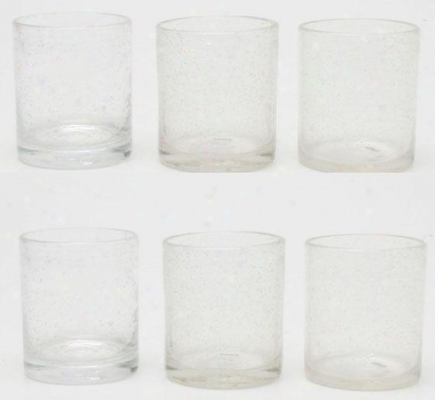 Old Fashioned Bubble Glasses - Set Of Six, Clear