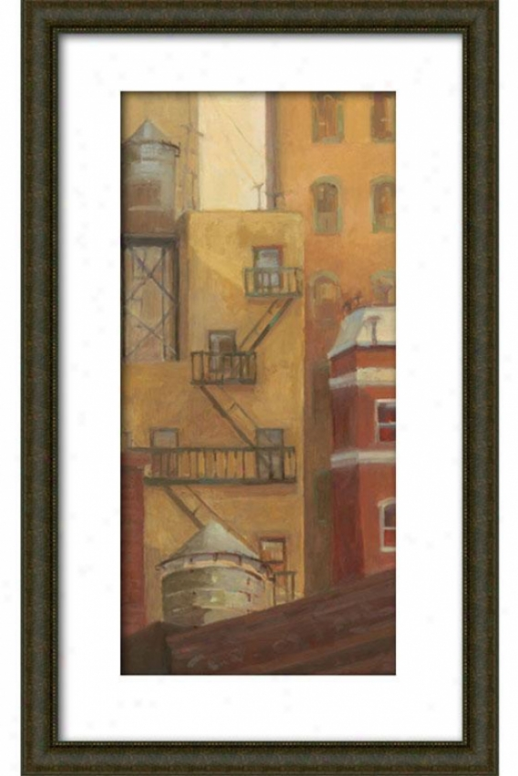 Old Town I Framed Wall Art - I, Matted Burlwood