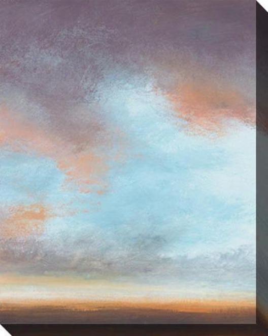 On The Horizon Iii Canvas Wall Art - Iii, Blue