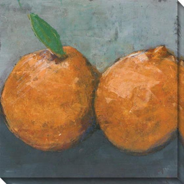 """orange Jaffa Canvas Wall Art - 40""""hx40""""w, Orange"""