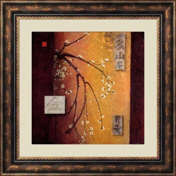 """""""oriental Blossom Ii Frames Wall Art - 40""""""""hx40""""""""w, Brown"""""""