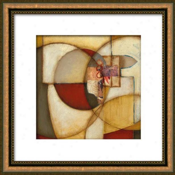 Exterior Reaches Ii Framed Wall Art - Ii, Matted Gold