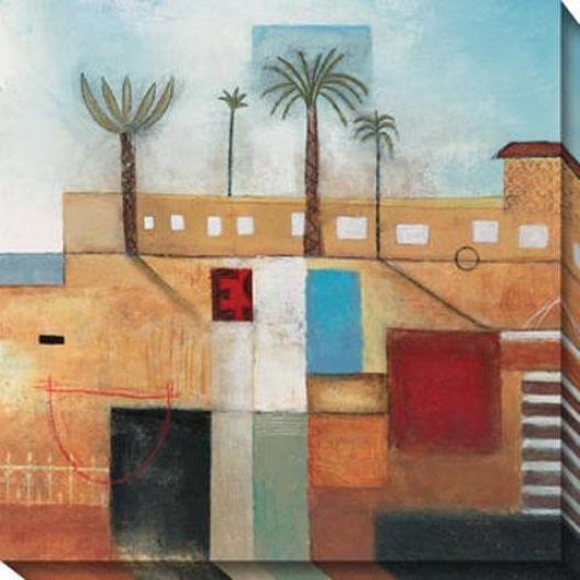 """""""palm City Canvas Wall Art - 40""""""""hx40""""""""w, Multi"""""""