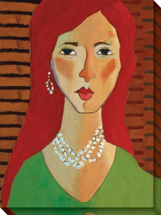 """palmoa's Pearls Canvas Wall Art - 36""""hx48""""w, Multi"""