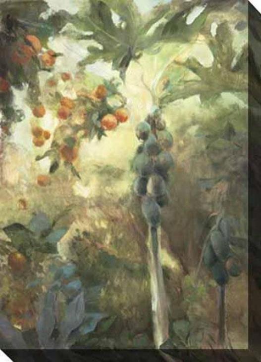 """""""papaya Canvas Wall Art - 35""""""""hx48""""""""w, Gray"""""""