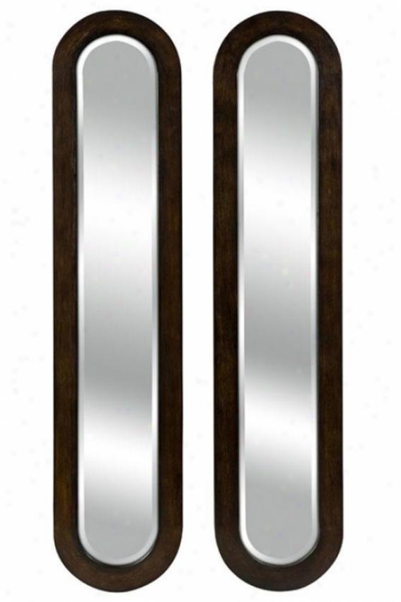 Parallel Viision Mirrors - Set Of 2 - Set/2, Brown