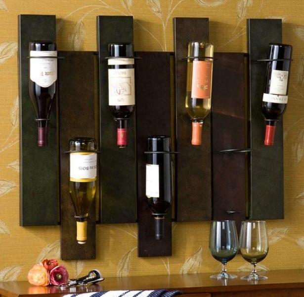 """parallels Wine Storage - 32""""wx27.25""""h, Earhtones"""