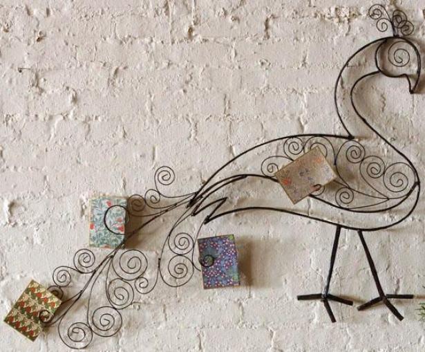 """peacock Wall Sculpture - 36""""hx48""""w, Brown"""