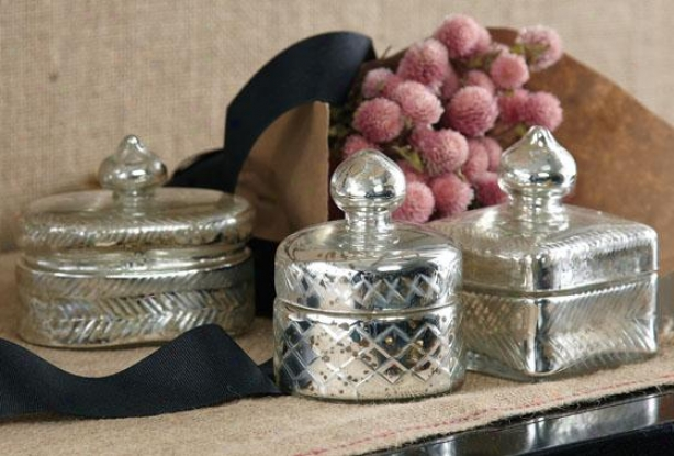 Pentimento Trinket Boxes - Set Of 3 - Set Of Three, Antiqued Silver