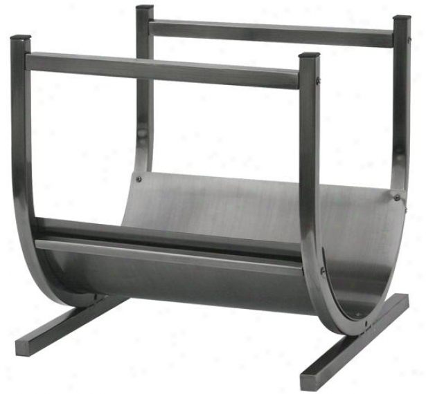 """pewter Log Rack - 17""""hx15""""wx11""""d, Gray"""
