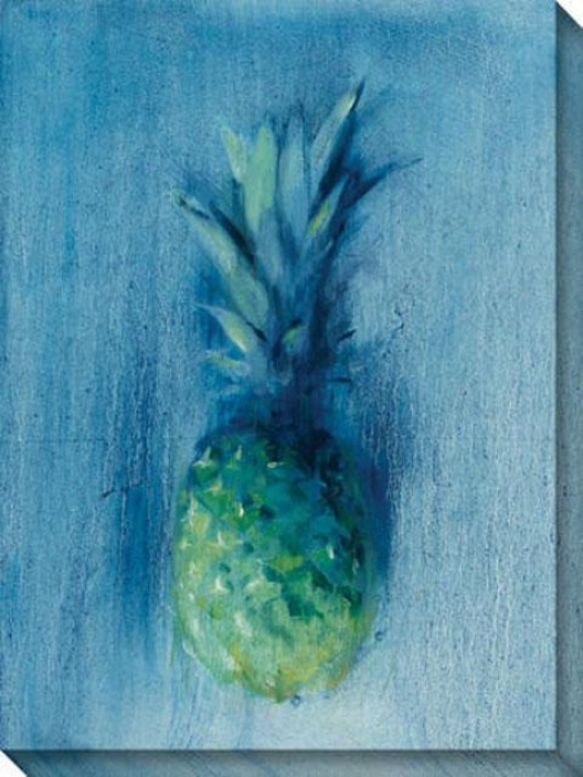 Pineapples I Canvas Wall Art - I, Blue