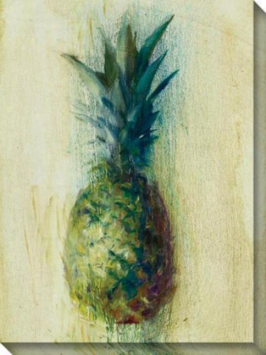 Pineapples Ii Canvas Wall Art - Ii, Ivory