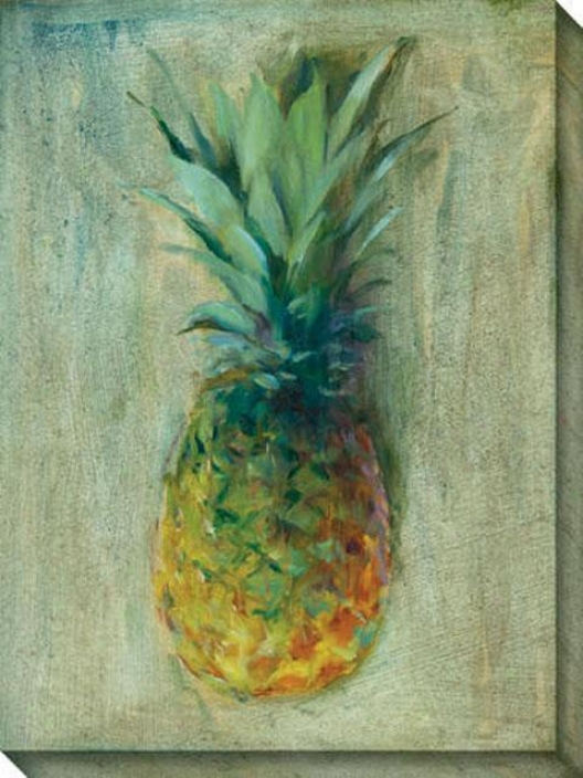 Pineapples Iii Canvas Wall Art - Iii, Green