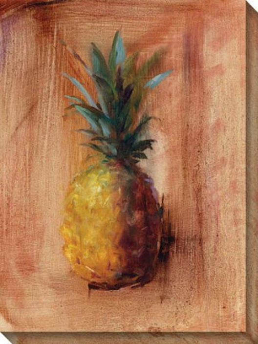 Pineapples Iv Canvas Wall Art - Iv, Peach